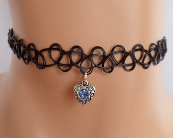 tattoo choker, heart choker, heart necklace