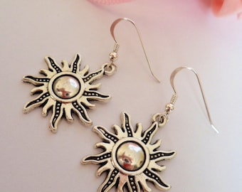 sun earrings, wicca earrings