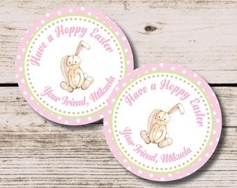 Easter Tag, Easter Bunny Favor Tag, Bunny Thank You Tag, Printable DIY Favor Tag, Easter Decoration, Easter Bunny School Treat Tag, Vintage