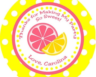 Pink Lemonade Thank You Favor Tags - Printable DIY Party Decorations