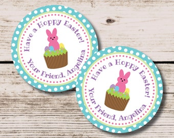 Easter Tag, Easter Bunny Favor Tag, Bunny Thank You Tag, Printable DIY Favor Tag, Easter Party Decoration, Easter Bunny School Treat Tag