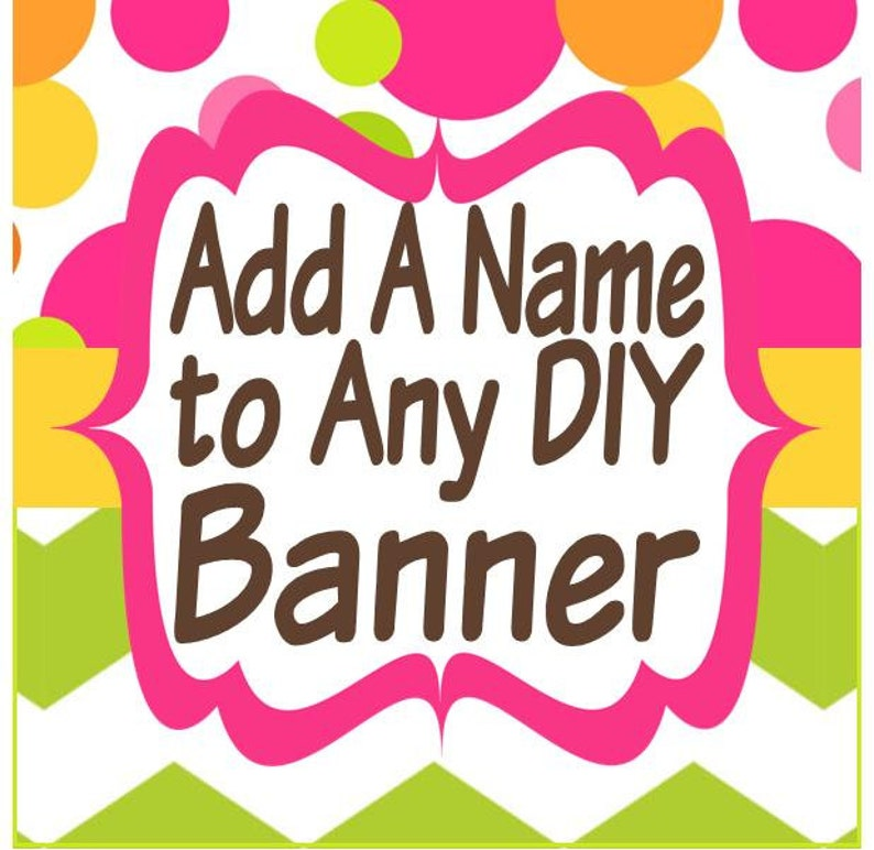 photograph about Printable Happy Birthday Banner called Insert a Reputation in the direction of Any Do-it-yourself Printable Satisfied Birthday Banner
