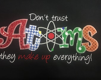 Atoms Science  Applique Blingy T-Shirt