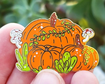 Pumpkin Garden - Hard Enamel Pin
