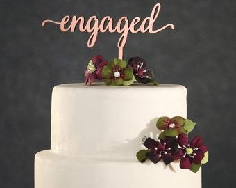 Rosegold Cake Topper Etsy