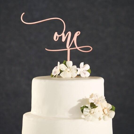 Birthday Cake Topper 1st Birthday Cake Topper Rose Gold Etsy