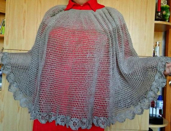 Crochet Cloak Crocheting Cloak Crocheting Poncho Crochet Etsy