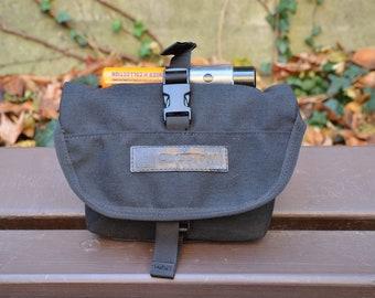 HIP BAG, christmas, waterproof belt pack black cordura U lock holster, waist pack, tactical modular pocket, commuting