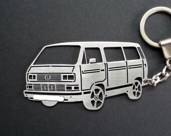 tin Volkswagen Keyring Transporter T3