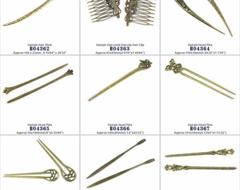 Jewelry Making Head Pins Hairpin Hair Stick Haircomb Hairclip Clip Charms Findings Jewellery Beading Crafting Supply Supplies