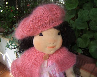 """Waldorf doll - Scarlett - 18"""" - Handmade doll, Waldorf inspired doll, Steiner doll, doll with two sets of clothes"""