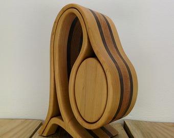 HANDMADE JEWELRY BOX - bandsaw box - home decor - wood art - keepsake box - original design by Simon Roy
