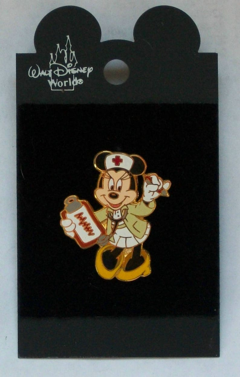 c52fa4362 Disney Minnie Mouse Nurse Pin New Minnie in Nurses Uniform | Etsy