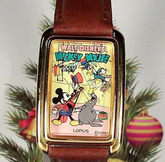 "Disney Lorus ""Circus Circus"" Mickey Mouse Watch! N"