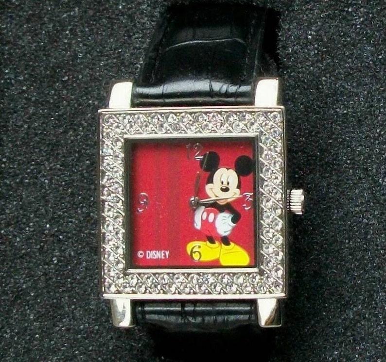 6e443e50b Disney Retired SWAROVSKI Crystal Mickey Mouse Watch New htf | Etsy