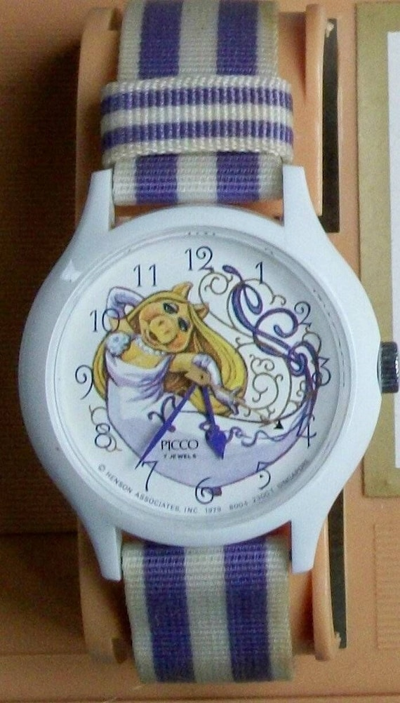 Retired Picco Jim Henson Muppets Miss Piggy Watch!