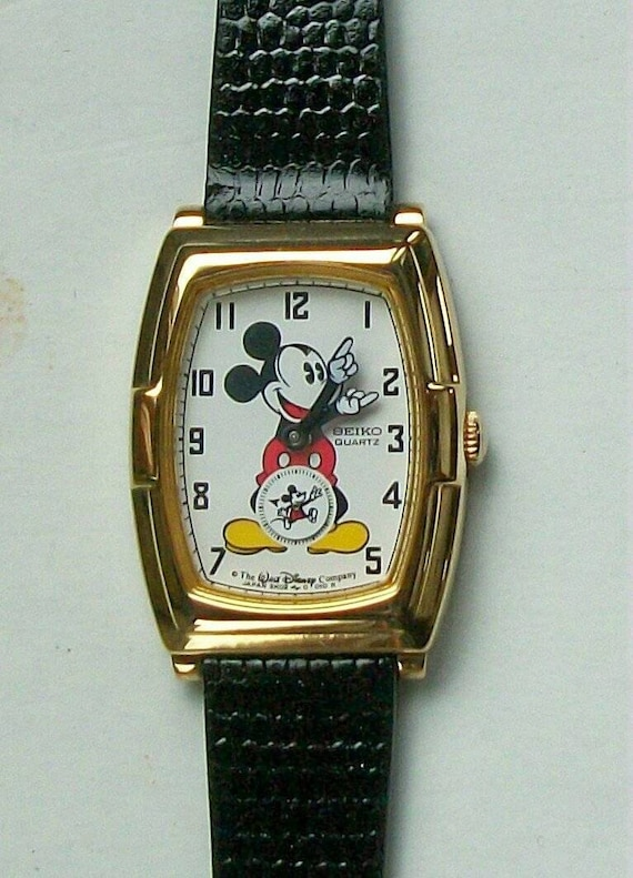 Mickey Mouse Watch Value >> New Vintage Seiko Ladies Mickey Mouse Watch Htf Retired Little Subdial Secondhand Mickey Dial Unique