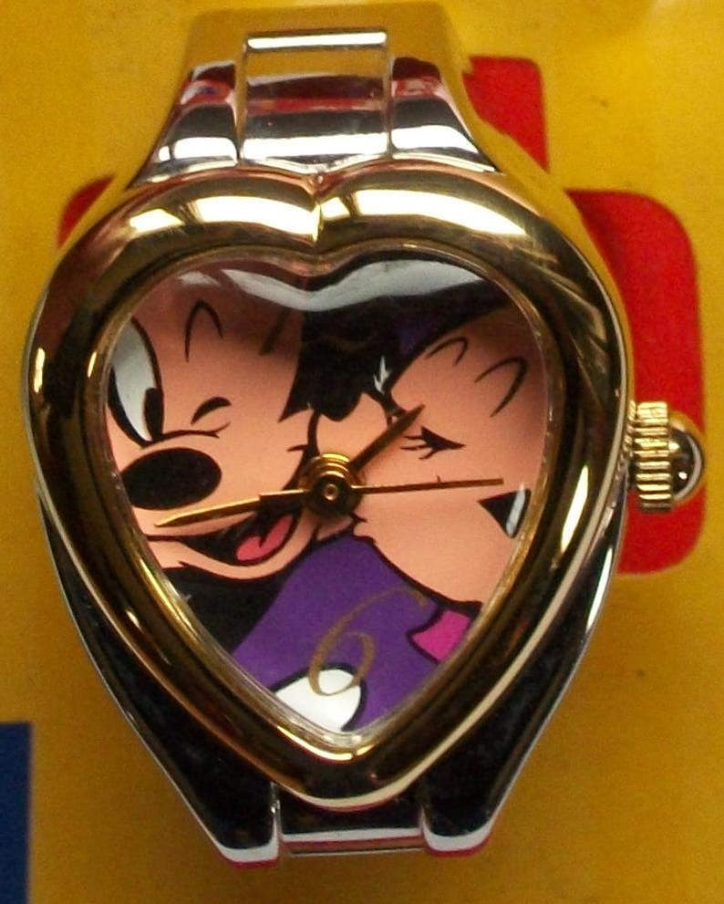 597efbe6b Disney Mickey Mouse Ring Watch Adorable Mickey & Minnie On | Etsy