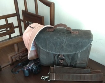 23ff6ba8080 Canvas camera bag