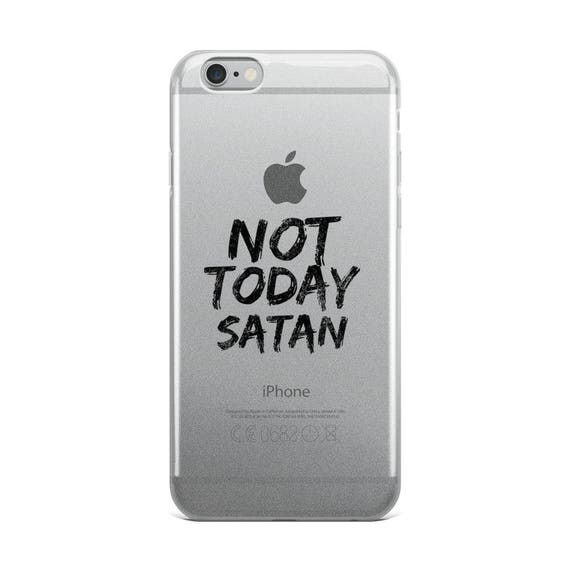 new concept f21ff 852a8 Not Today Satan iPhone case, 6, 7, ,8, x, iPhone Case, custom phone case,  trendy cell phone case, faith sayings, positive , christian