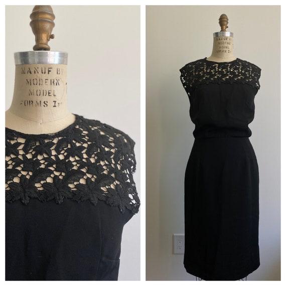 Vintage 1950's Dress 'Wiggle Room' Secretary Mad … - image 1