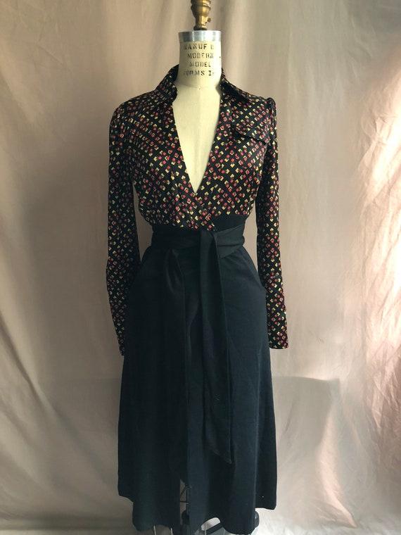 08a1fbb2a5 Vintage 1990 s DVF Dress Diane Von Furstenberg Silk Wool