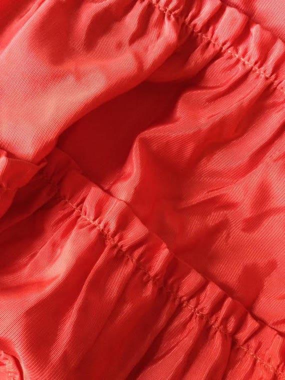 Vintage 1950's Dress Party Formal Cocktail Red Ru… - image 7