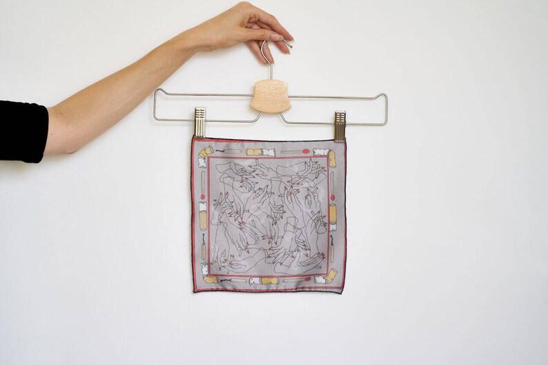 Men's Pocket Square Kerchief Handkerchief Hand Made Tapestry Design  Cigarette Smoking Fetish Illustration Smoker