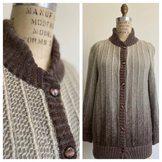 Vintage 1980's Italian Wool Mohair Sweater Ombre T