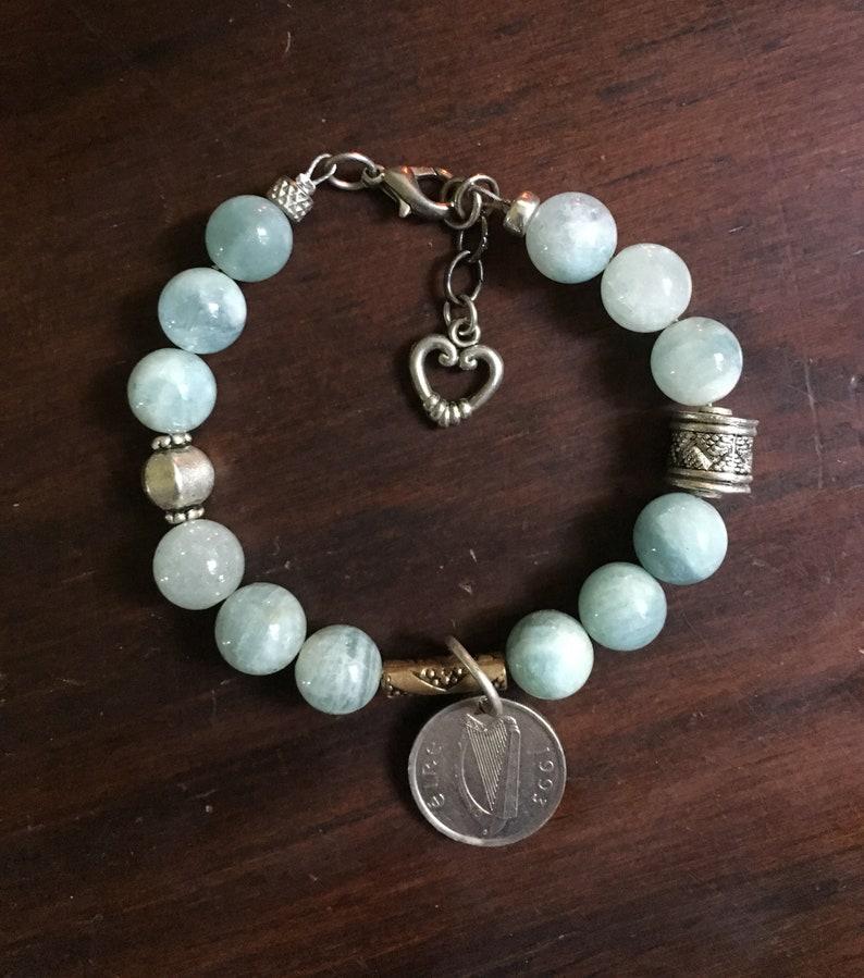Celtic Aquamarine Bracelet image 0