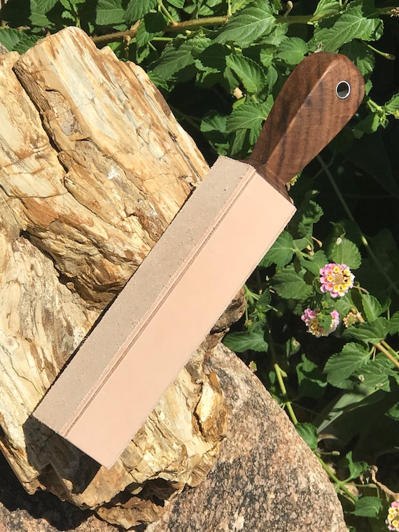 Deluxe Premium 12 Dual Sided Strop Solid Oak and 10oz Leather with Stainless Lanyard Hole FREE SHIPPING