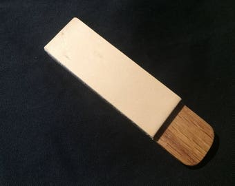 Premium Solid Oak and 10oz Leather Micro Pocket Strop for Knives and Tools