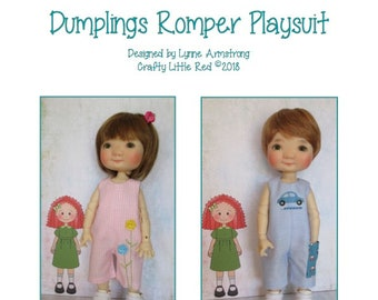 Romper Playsuit Pattern for Meadow Dolls Dumplings