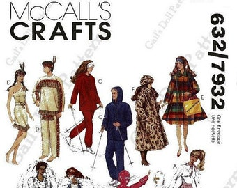 E723 Copy of McCalls Barbie Doll Clothes Pattern #639 (also same as #7932)