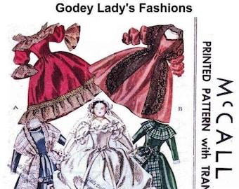 E195 1946 Godey Lady's Book of Patterns circa 1860