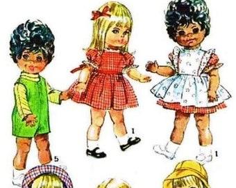 "E619 Simplicity #7971 18"" Toddler Doll Wardrobe Pattern"