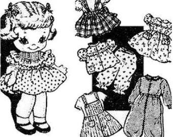 laura wheeler etsy Plus Size Pinafore 9 laura wheeler cloth doll pattern with wardrobe