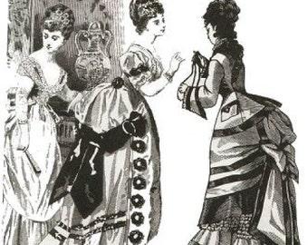 E78 Godey Bustle Back Dress Pattern