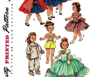"""Copy of 1955 Simplicity Pattern #1405 Doll Clothes Wardrobe for 14-1/2"""" Dolls."""