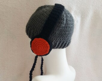 0fd4b8bdb Headphones hat | Etsy