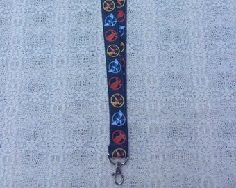 Mockingjay Pin / Pins / Katniss / Peeta / Ribbon Lanyard / ID Tag