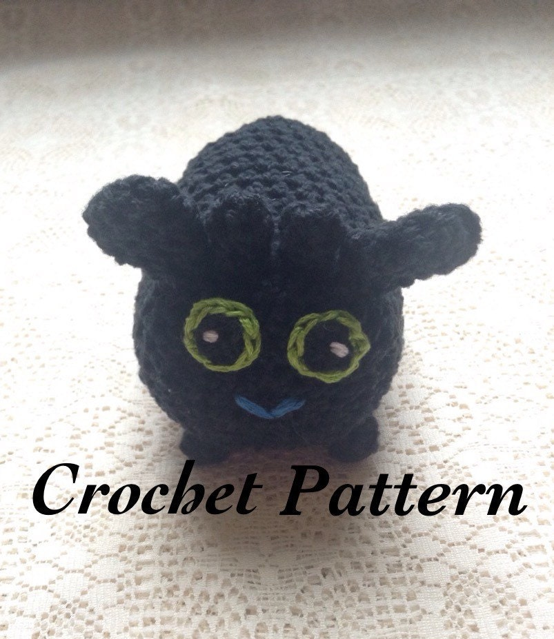 Toothless Tsum Tsum Pdf File Pattern How To Train Your Etsy