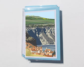 1 x Pack of 6 Yorkshire Coast Cards - YC.Coast.3