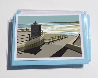 Pack of 6 mixed Yorkshire Coast Cards - YC.Coast.2