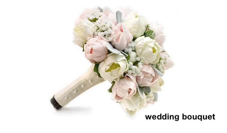 Real Touch White Roses Blush Peonies Eucalyptus,Succulents,Fern,Anemones Bridal Bridesmaids Bouquets Prom Wedding Flowers Centerpieces
