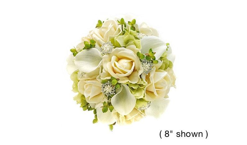 Sensational Real Touch White Calla Lilies Ivory Roses Hydrangea Hypericum Rhinestones Bridal Bridesmaids Bouquets Wedding Flowers Centerpieces Download Free Architecture Designs Scobabritishbridgeorg