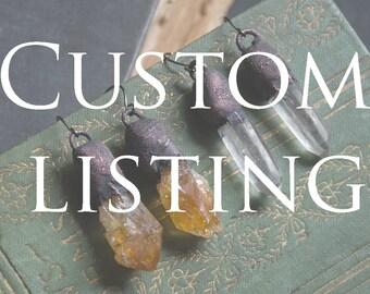 Custom earrings