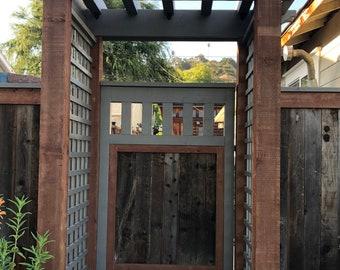 Pergola with farm gate