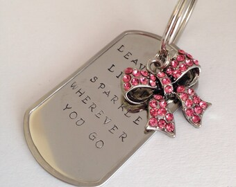 Leave a Little Sparkle Keychain