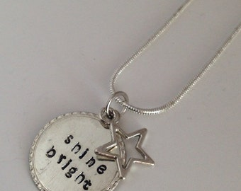 CLEARANCE: Shine Bright Hand Stamped Necklace